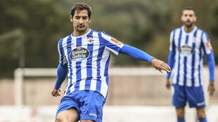 Celso Borges en un partido de pretemporada con el Deportivo