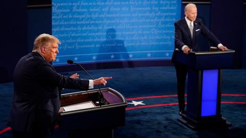 Momento de tensión en el debate entre Donald Trump y Joe Biden