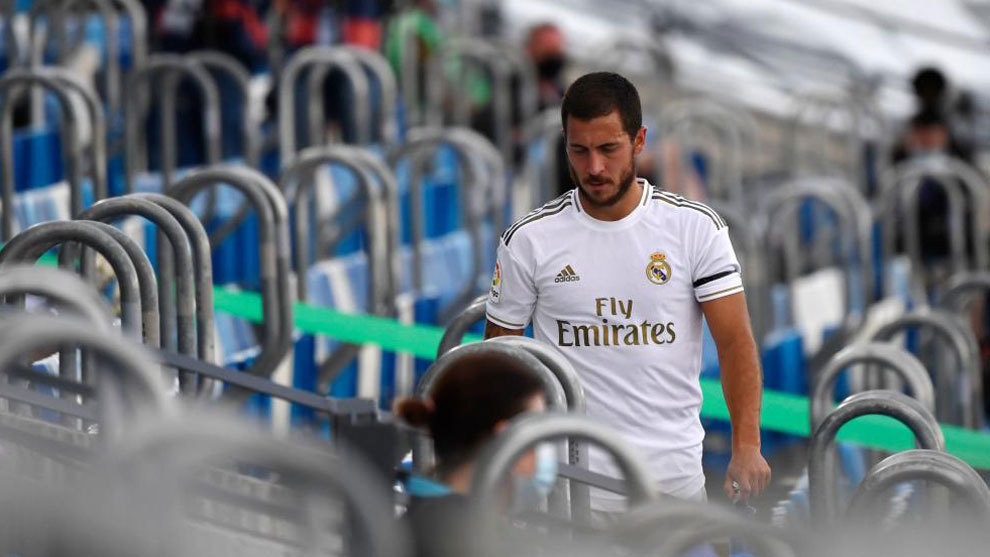 How many days has Hazard been injured since joining Real Madrid?