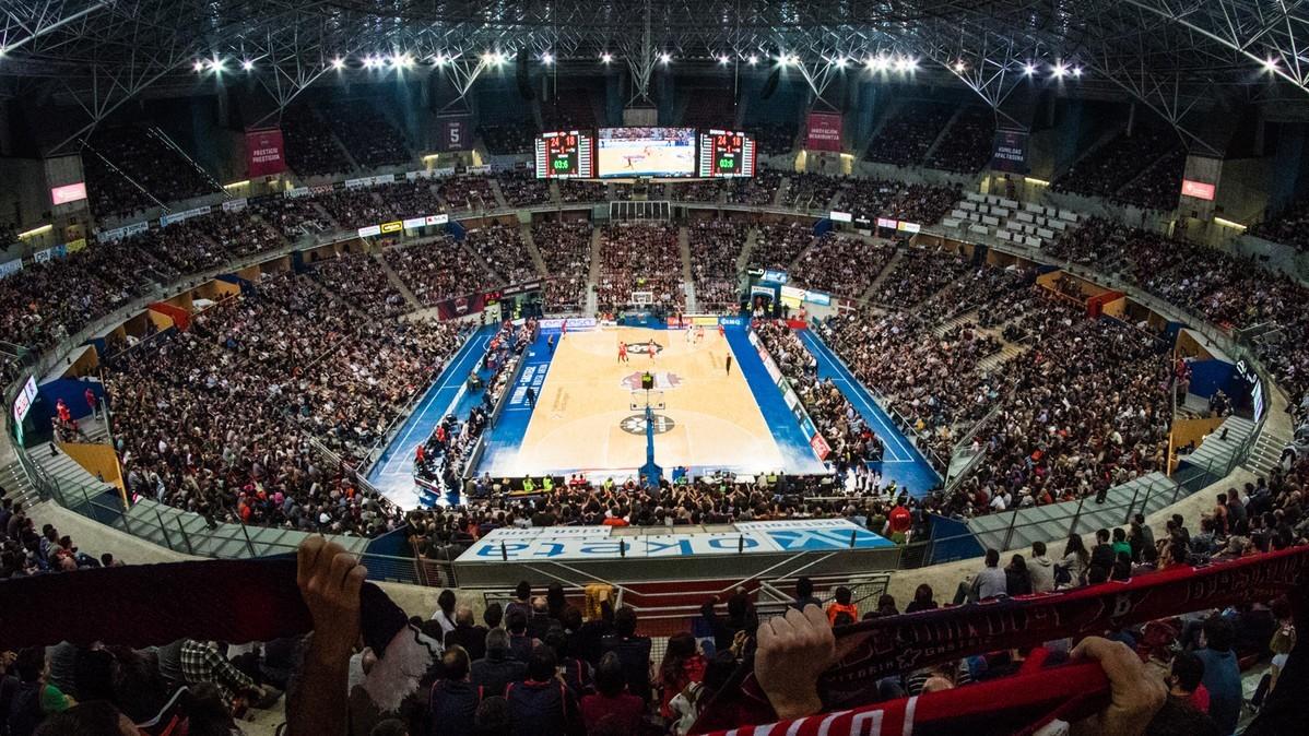 Una panorámica del Buesa Arena.
