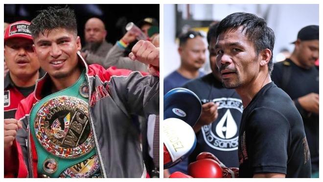 Mikey García y Manny Pacquiao.