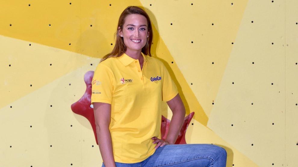 Mireia Belmonte, en la presentación de la nueva entrega de las Becas...