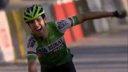 Oier Lazkano entra en meta como ganador.
