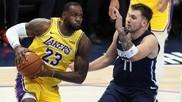 LeBron James y Luka Doncic, en un encuentro de esta temporada.