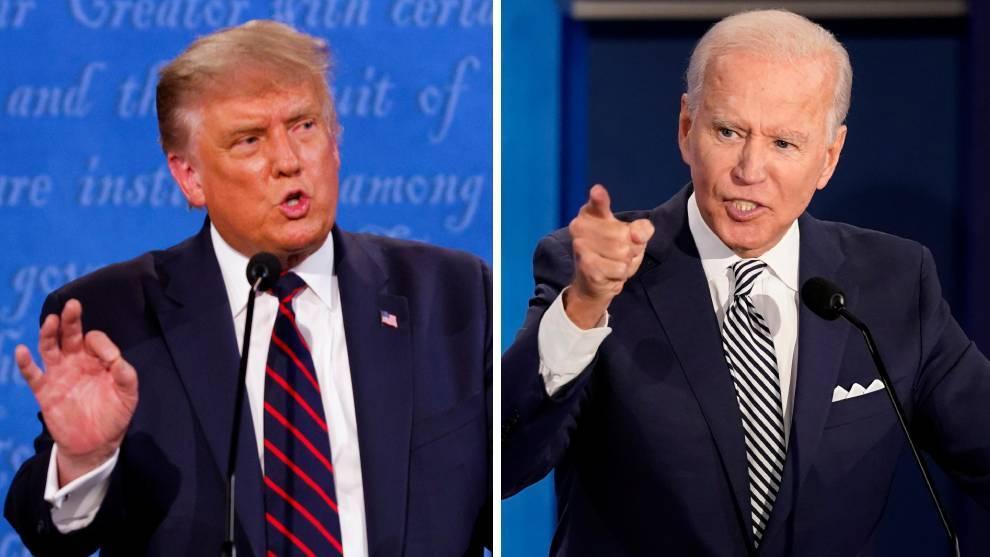 Trump y Biden, debate presidencial