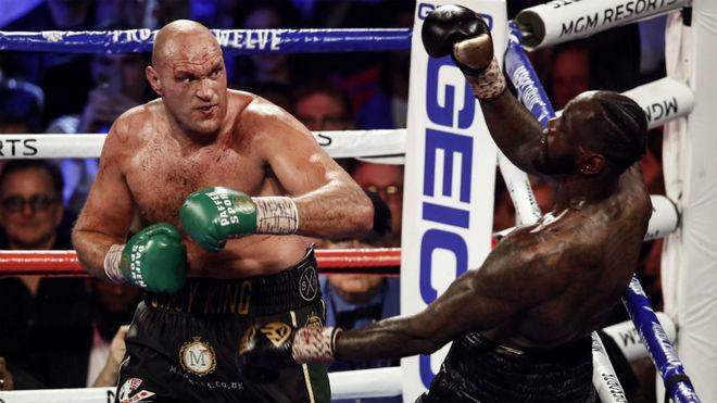 Tyson Fury y Deontay Wilder, en un combate