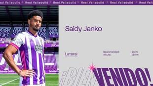 Montaje para anunciar el fichaje de Saidy Janko.