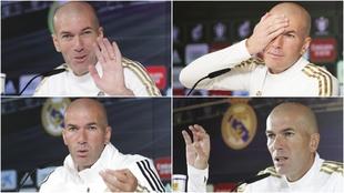 Zidane en distintas ruedas de prensa