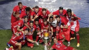El Bayern celebra el título del año pasado.