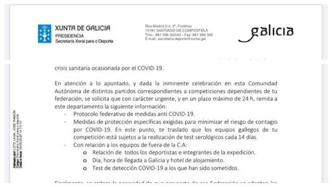 Las Federaciones rechazan el protocolo de la Xunta para el deporte no profesional