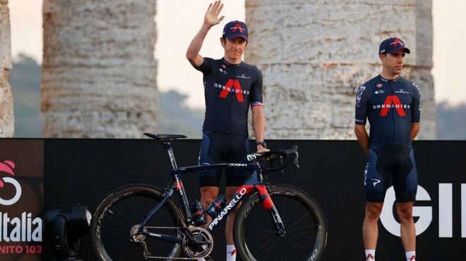 Geraint Thomas en la presentación del Giro 2020.