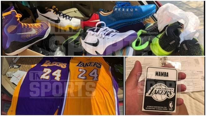 Algunos de los artículos de Kobe encontrados en el trastero...