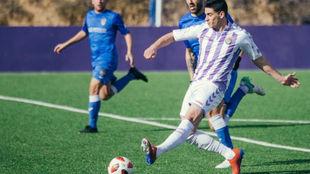 De la Fuente con el filial del Valladolid.