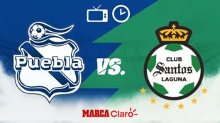 Puebla vs Santos: Horario y dónde ver.