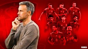 Estos siete futbolistas tienen complicado ir con Luis Enrique a la...