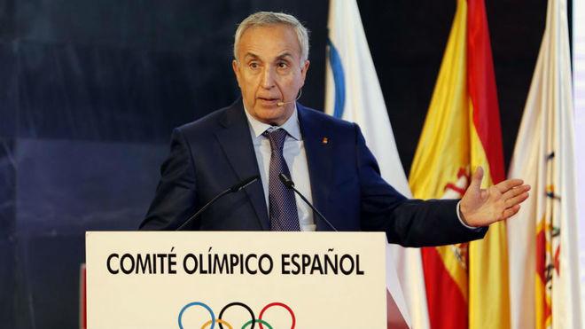Alejandro Blanco, durante un acto en la sede del COE.