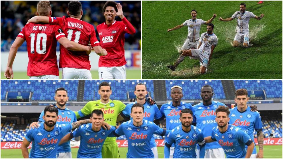 Grupo de la Real Sociedad: Nápoles, AZ Alkmaar y Rijeka.
