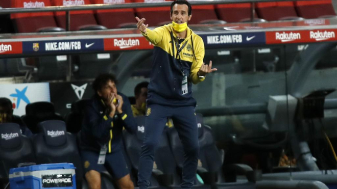 Emery, durante un partido con el Villarreal.