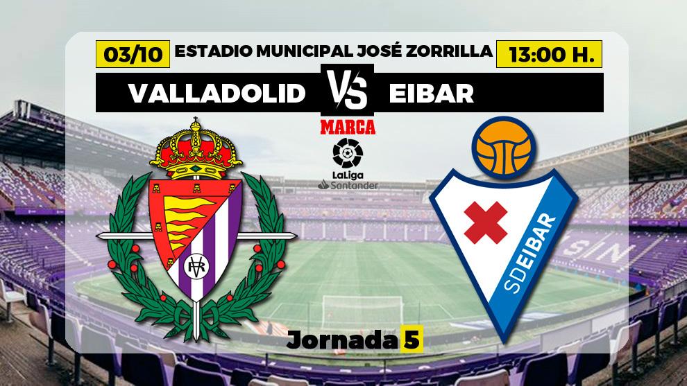 Valladolid - Eibar: horario y donde ver por television hoy el partido...
