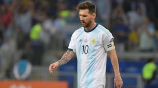 Messi, con la selección de Argentina.