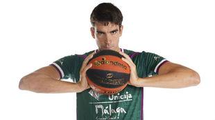 Carlos Suárez, en el media day del Unicaja de la Liga Endesa