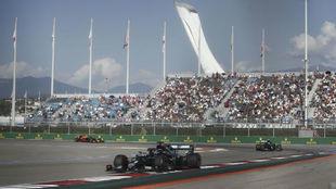 Imagen de las gradas, en el GP de Rusia de F1.