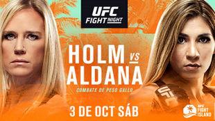 Cartel promocional del Holm vs Aldana.