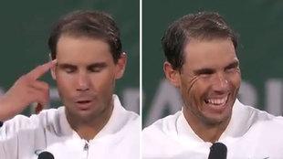"""Nadal se bloquea tras su victoria: """"Has perdido tu francés"""""""