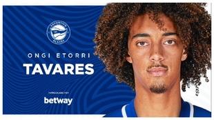 Tavares, nuevo jugador del Alavés.