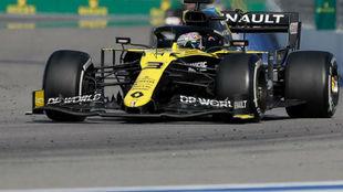 Daniel Ricciardo, con el Renault RS20, durante el GP de Rusia.