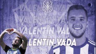 Valentín Vada, nuevo jugador del Tenerife