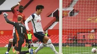 ¡Quinto del Tottenham en Old Trafford!
