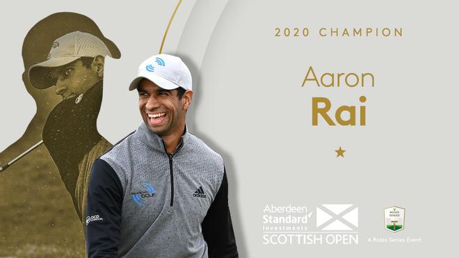 Aaron Rai, ganador del Abierto de Escocia