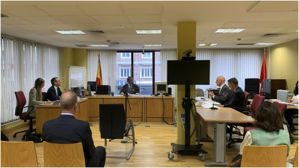 Imagen de la vista judicial del pasado 2 de octubre: RFEF y LaLiga...