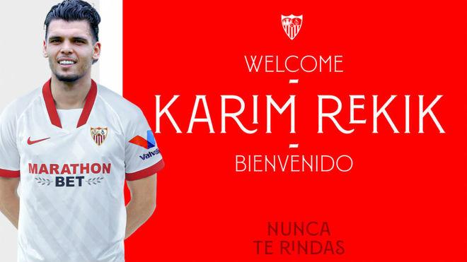 Oficial: Rekik, séptimo fichaje del Sevilla