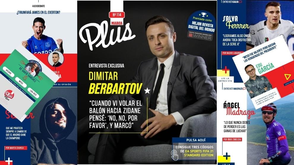 Berbatov, Valverde... Ya disponible el nº 114 de MARCA Plus