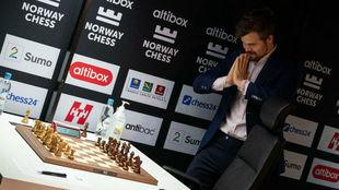 Magnus Carlsen, en la primera jornada del 8º Altibox Norway Chess.