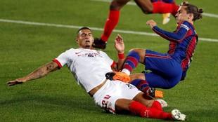 Griezmann, durante el encuentro contra el Sevilla.