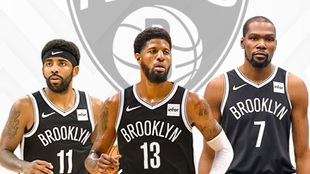 Montaje con Kyrie Irving, Paul George y Kevin Durant