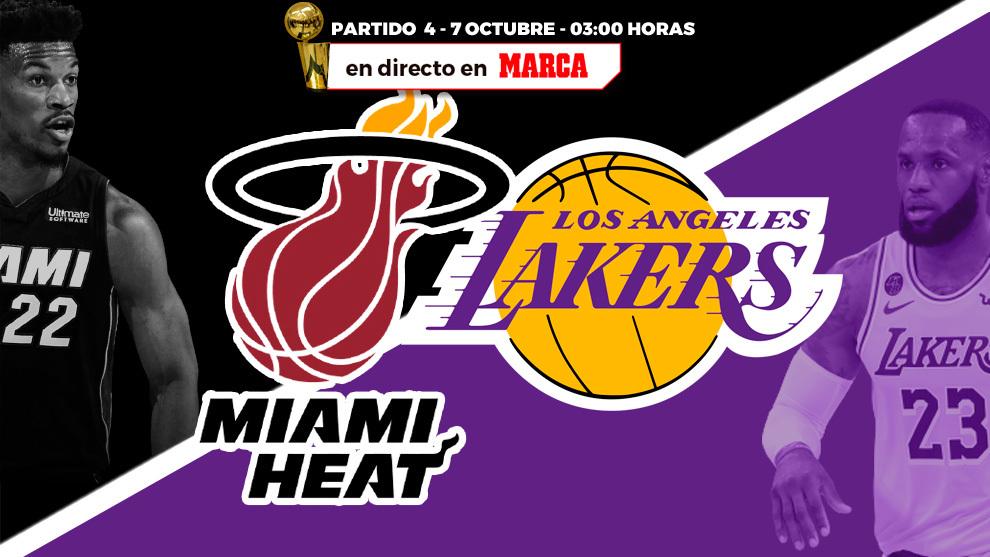 Miami Heat - Lakers: resumen y resultado del cuarto partido de la final de NBA 2020