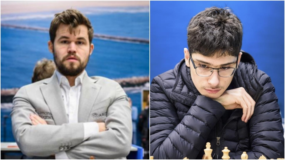 Magnus Carlsen y Alireza Firouzja.
