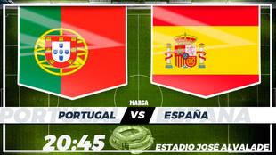Portugal España horario tv television hoy amistoso internacional