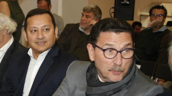 El presidente Anil Murthy y el consejero José Luis Zaragosí.