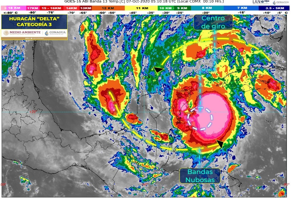 Huracán Delta: Así fue el paso y la trayectoria por Cancún, Quintana Roo y Yucatán