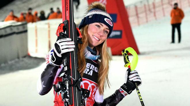La bicampeona olímpica Mikaela Shiffrin.
