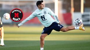 Brahim durante el entrenamiento de la selección.