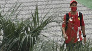 Vettel, durante el pasado GP de Rusia.