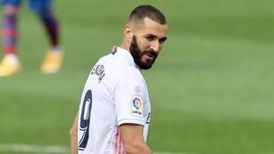 Karim Benzema, en el partido ante el Levante