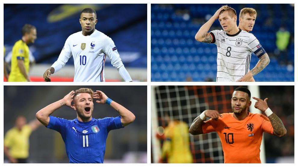 Resumen y resultados de los amistosos internacionales de selecciones: Francia, Italia, Países Bajos, Alemania...