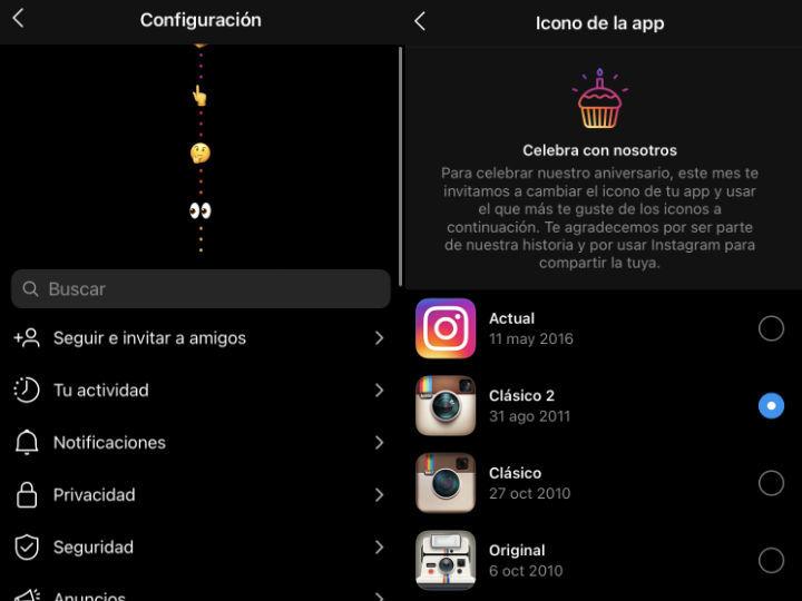 Instagram y cómo cambiar el ícono por orgullo clásico, vintage o LGBT